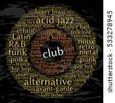 club. word cloud  circles ... | Shutterstock .eps vector #533278945