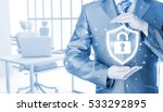 data protection and insurance.... | Shutterstock . vector #533292895