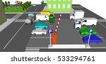 parking car  lot 3d with open ... | Shutterstock .eps vector #533294761