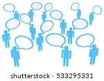 people with talk bubbles... | Shutterstock . vector #533295331