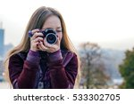 woman taking photograph from... | Shutterstock . vector #533302705