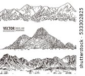 mountains ranges. set. nature... | Shutterstock .eps vector #533302825