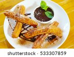 Plate Of Fried Churro With...