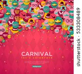 carnival banner with flat icons ... | Shutterstock .eps vector #533308489