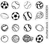 set ball sports icons symbols... | Shutterstock .eps vector #53330854