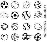 set ball sports icons symbols... | Shutterstock .eps vector #53330854