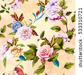 seamless background pattern of... | Shutterstock .eps vector #533310721