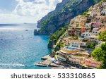positano village on amalfi...   Shutterstock . vector #533310865