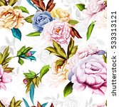 seamless background pattern of... | Shutterstock .eps vector #533313121