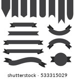 dark grey black ribbon banner... | Shutterstock .eps vector #533315029