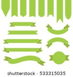 bright apple green ribbon... | Shutterstock .eps vector #533315035