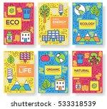 clean energy vector brochure... | Shutterstock .eps vector #533318539