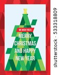 we wish you merry christmas and ... | Shutterstock .eps vector #533318809