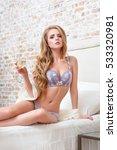 beautiful sensual blonde woman...   Shutterstock . vector #533320981