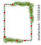 blank christmas border  candy... | Shutterstock .eps vector #533326165