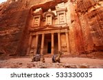 al khazneh   the treasury ... | Shutterstock . vector #533330035