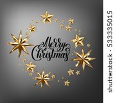 holiday background with golden... | Shutterstock .eps vector #533335015