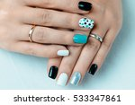 female hand with trendy... | Shutterstock . vector #533347861
