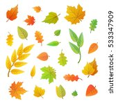 big set of cute leaves from... | Shutterstock .eps vector #533347909