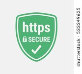 https protocol. safe and secure ... | Shutterstock .eps vector #533349625