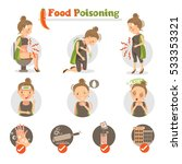 woman having a stomachache.food ... | Shutterstock .eps vector #533353321