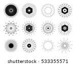 retro sun burst shapes. vintage ... | Shutterstock .eps vector #533355571