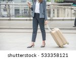 young businesswoman with... | Shutterstock . vector #533358121