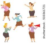 vector set of five cartoon... | Shutterstock .eps vector #533361721