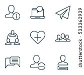 set of 9 social network icons....