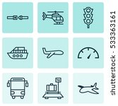 set of 9 delivery icons. can be ...