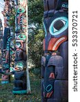 Indian Totems In Stanley Park ...