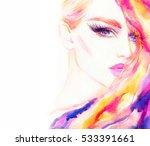 fashion illustration. abstract... | Shutterstock . vector #533391661