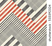abstract striped geometric... | Shutterstock .eps vector #533392324