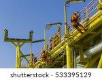 man working overboard. man... | Shutterstock . vector #533395129