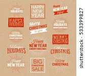 merry christmas and happy new... | Shutterstock .eps vector #533399827