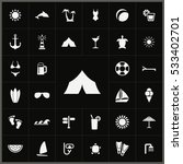 tent icon. beach icons... | Shutterstock . vector #533402701