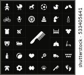 baby  kids icons universal set... | Shutterstock . vector #533405641