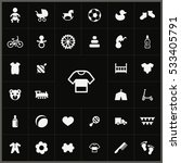 baby  kids icons universal set... | Shutterstock . vector #533405791