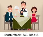 young couple having dinner in a ... | Shutterstock .eps vector #533406511