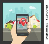 augmented reality on mobile... | Shutterstock .eps vector #533409985