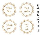 elegant calligraphy frames set... | Shutterstock .eps vector #533414671