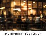 Blurred Of Cafe   Restaurant  ...