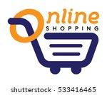 online shop logo template... | Shutterstock .eps vector #533416465