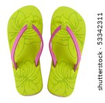 A Pair Of Brightly Colored Fli...