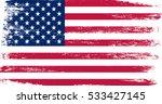 grunge american flag.vector... | Shutterstock .eps vector #533427145