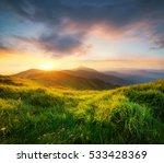 mountains during sunset.... | Shutterstock . vector #533428369