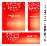 xmas cover design. merry... | Shutterstock .eps vector #533433739