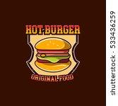 burger logo badge | Shutterstock .eps vector #533436259