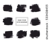 black acrylic brush painted... | Shutterstock .eps vector #533438455