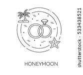 honeymoon banner with wedding... | Shutterstock .eps vector #533438521